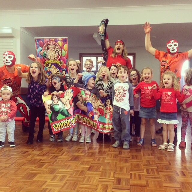 Thanks everyone who came down to the CareWays Community Neighbourhood Centre Week in Horsley today we hope you guys had as much fun as we did.  To have the Super Wrestling Heroes be apart of your next function or event visit www.superwrestlingheroes.com.au  ARE YOU READY TO PARTY?!