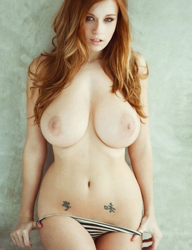Hips and thongs redhead