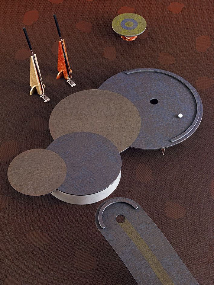 Our Futuristic Round Of Mini Golf, Featuring Abstract Shapes And  Contrasting Materials, Is