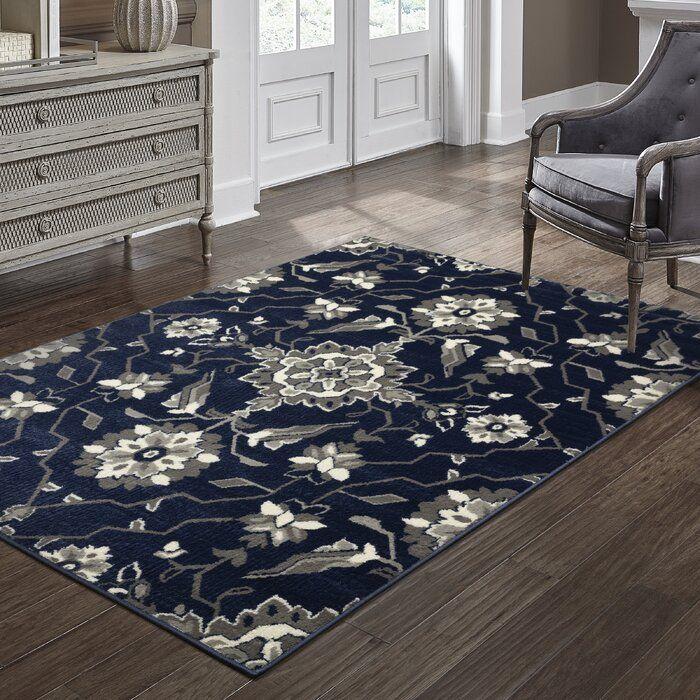 Dartington Floral Royal Blue Area Rug In 2020 Blue Living Room Decor Blue Living Room Navy Living Rooms #royal #blue #rugs #for #living #room