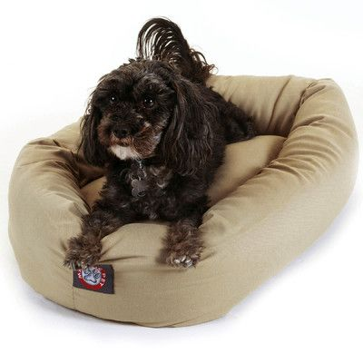 "Majestic Pet Bagel Donut Dog Bed Color: Burgundy, Size: X-Large (52"" L x 36"" W)"
