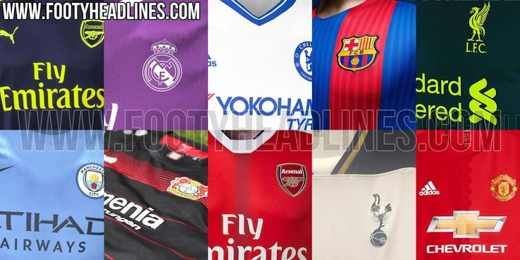 The 2016-17 Kit Overview includes all leaked 16-17 football shirts, including the new Arsenal, Barcelona, Manchester United and Real Madrid 2016-17 kits.