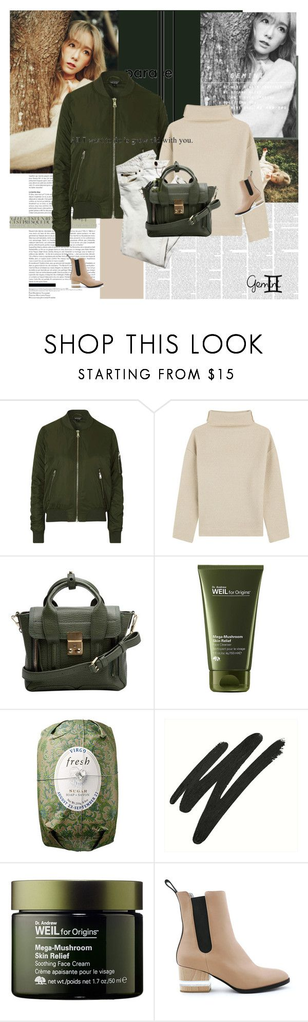 """쌍둥이자리 - Gemini"" by e-laysian ❤ liked on Polyvore featuring Metropolis, Topshop, Étoile Isabel Marant, 3.1 Phillip Lim, Origins, Fresh, Vincent Longo and Dear Frances"