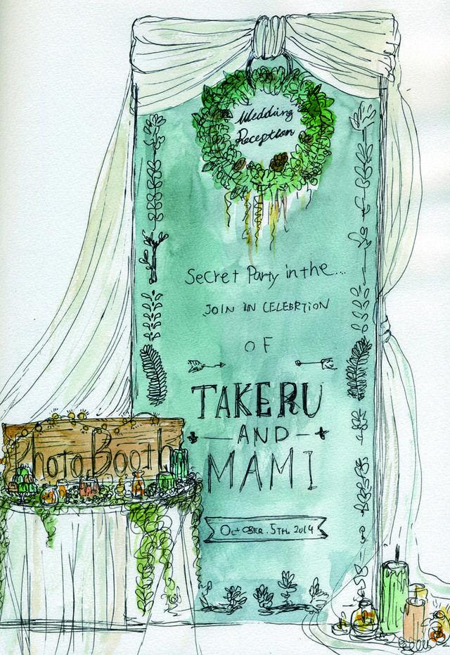 森テーマウェディング作品集 - オリジナルウェディング・フラワー コンセプトウェディング・フラワー専門店 花屋福太郎