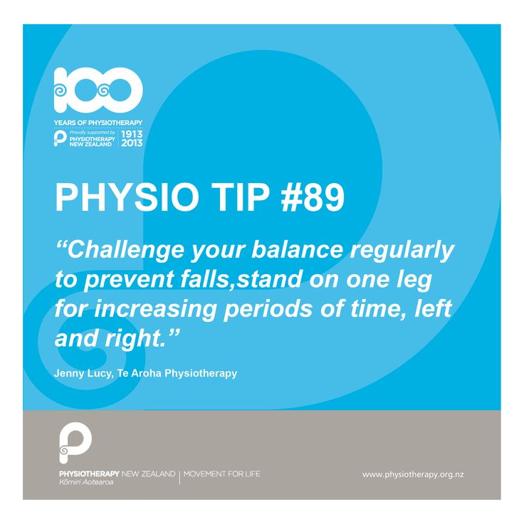 #physio tip: challenge your balance to prevent falls