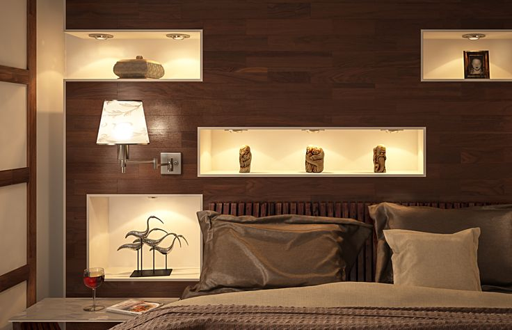 Wooden Bedroom - close view