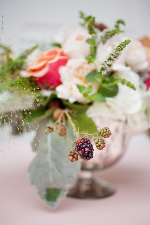 Gorgeous bouquet by Sharla Flock for the Good Company SF Grand Opening. Love how she used the rasberries, would be lovely for a summer wedding.