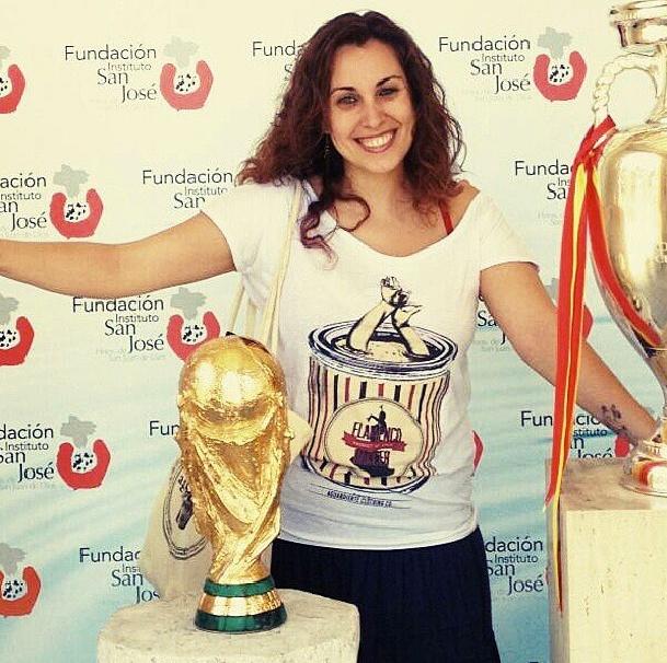 Cristina en Madrid... con Sticky Fingers! (y la Copa del Mundo...)