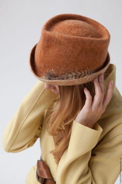 """Шляпы ручной работы. Шляпка из войлока """"Большие планы на сегодня"""". Людмила. Ярмарка Мастеров. Весенняя шляпка, шерстяная шляпка"""