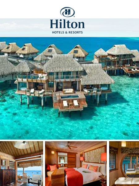 Bora Bora Hilton! Absolute dream holiday destination!