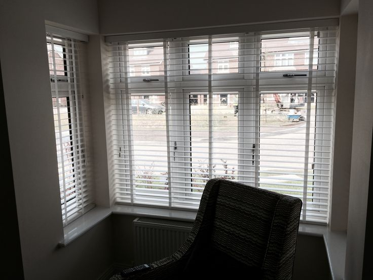 Bay window venetian blinds with tapes - By Think Blinds