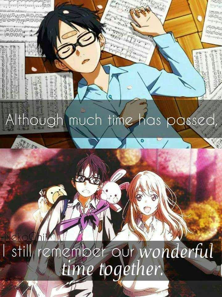 Anime: Your Lie in April.