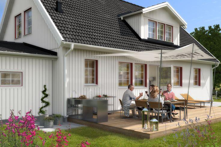 Älvsbyhus modell Höner 101,5 m² med inredningsbar vind på 53,6 m².