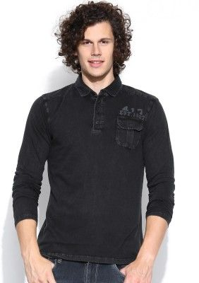Dream of Glory inc. Solid Men's Polo Neck T-Shirt - Buy Black Dream of Glory inc. Solid Men's Polo Neck T-Shirt Online at Best Prices in India | Flipkart.com