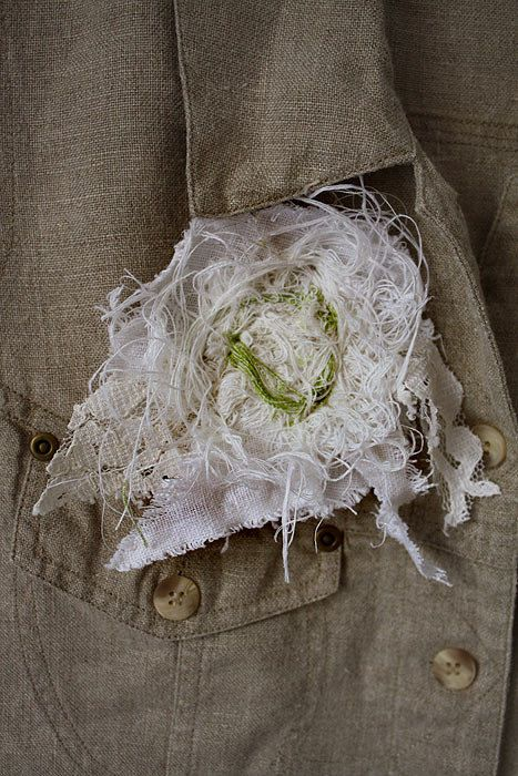 Natural top jacket tattered camisole western от GreenHouseGallery