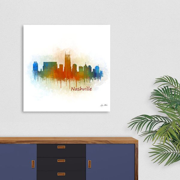 Discover «Nashville city Skyline in Tennessee v3», Exclusive Edition Acrylic Glass Print by hqphoto - From 80€ - Curioos