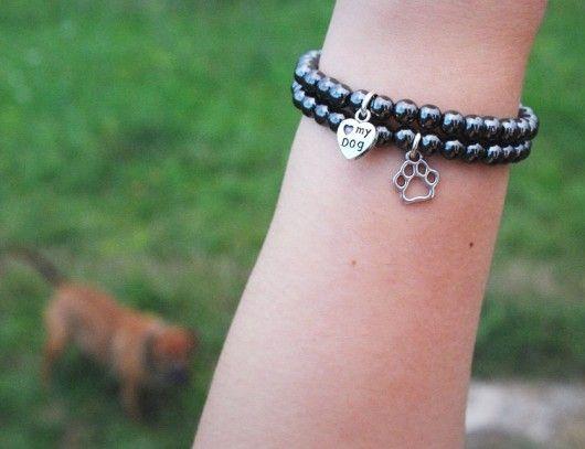 bransoletki - minerały-I love my DOG :: komplet :: pomysł na prezent :)