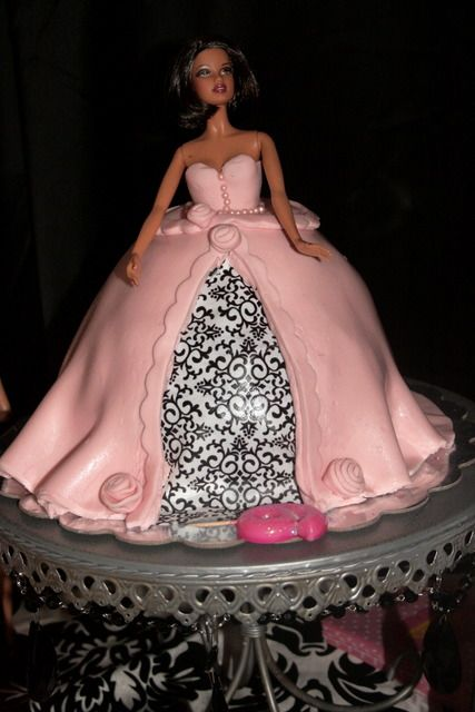 Barbie cake--this is for you, Shari! Happy birthday!