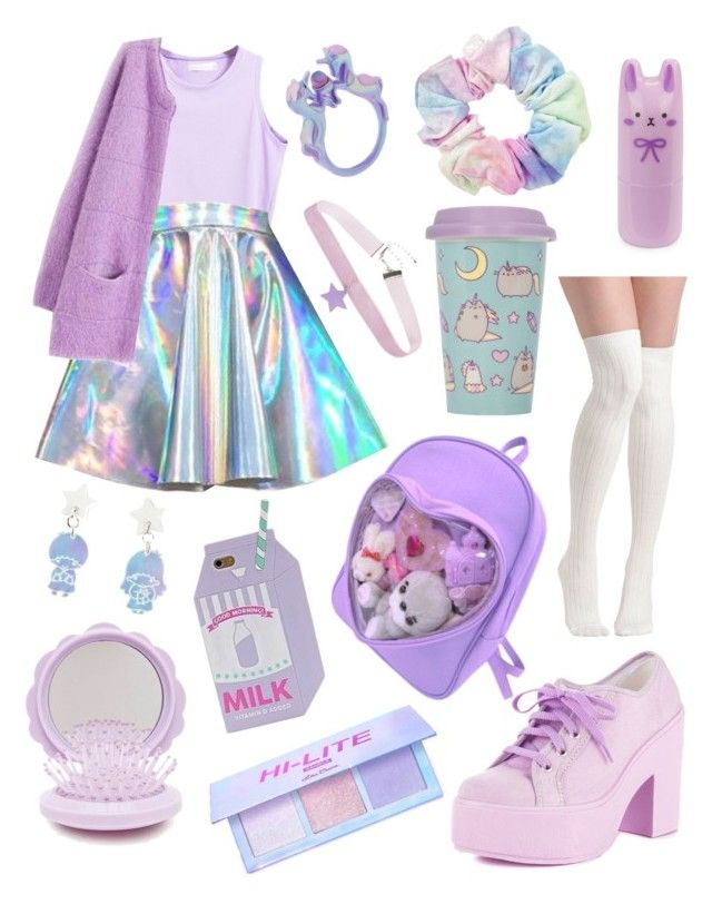"""""""Spacey Girl #32 ⭐️✨"""" by anniebeexoxo on Polyvore featuring Shellys, Hot Topic, Tony Moly, Pusheen and Forever 21"""