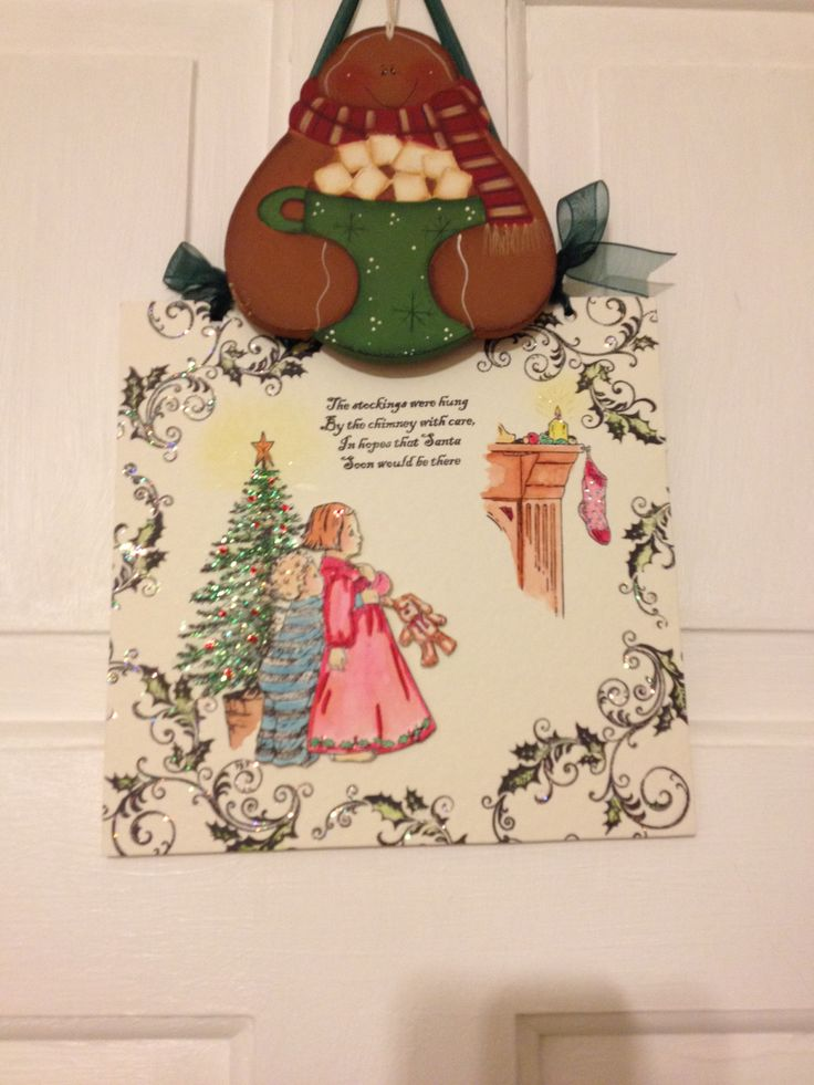 Gorgeous Xmas plaque all handmade and gingerbread delight !! X