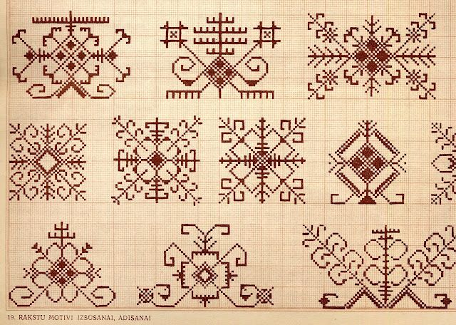 colourwork ideas, Latvian