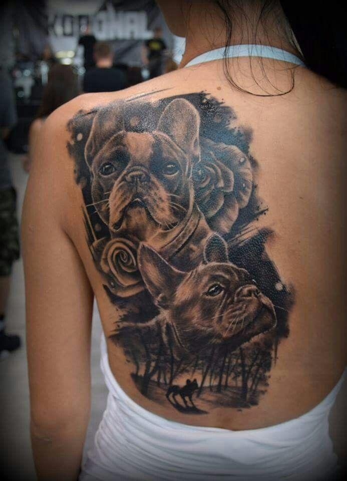 Pin By Cody Benoit On Tatuaz Psy French Bulldog Tattoo Bulldog Tattoo Bull Tattoos