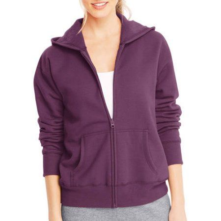 Hanes Women's Fleece Zip Hoodie, Purple