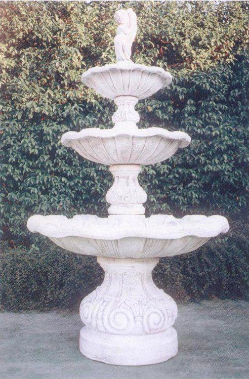 Fontana RAITO in cemento - Ø cm 120x210H - arredogiardini.it