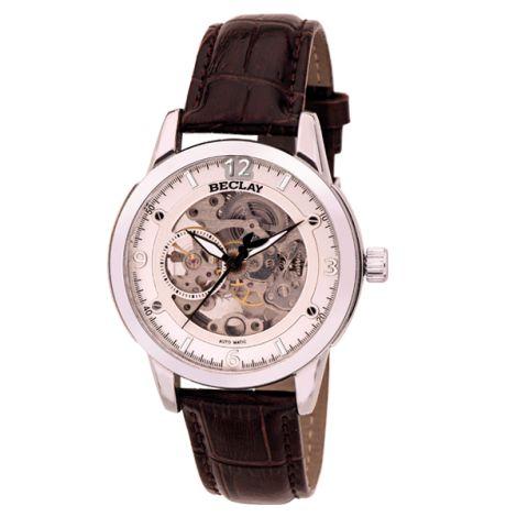 Reloj de hombre de la marca BECLAY de CRISTIAN LAY. Caja de acero y correa de piel.  www.cristianlay.com