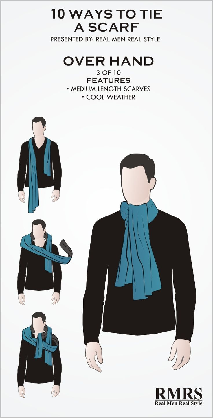 10 Manly Ways To Tie A Scarf | Masculine Knots For Men Wearing Scarves