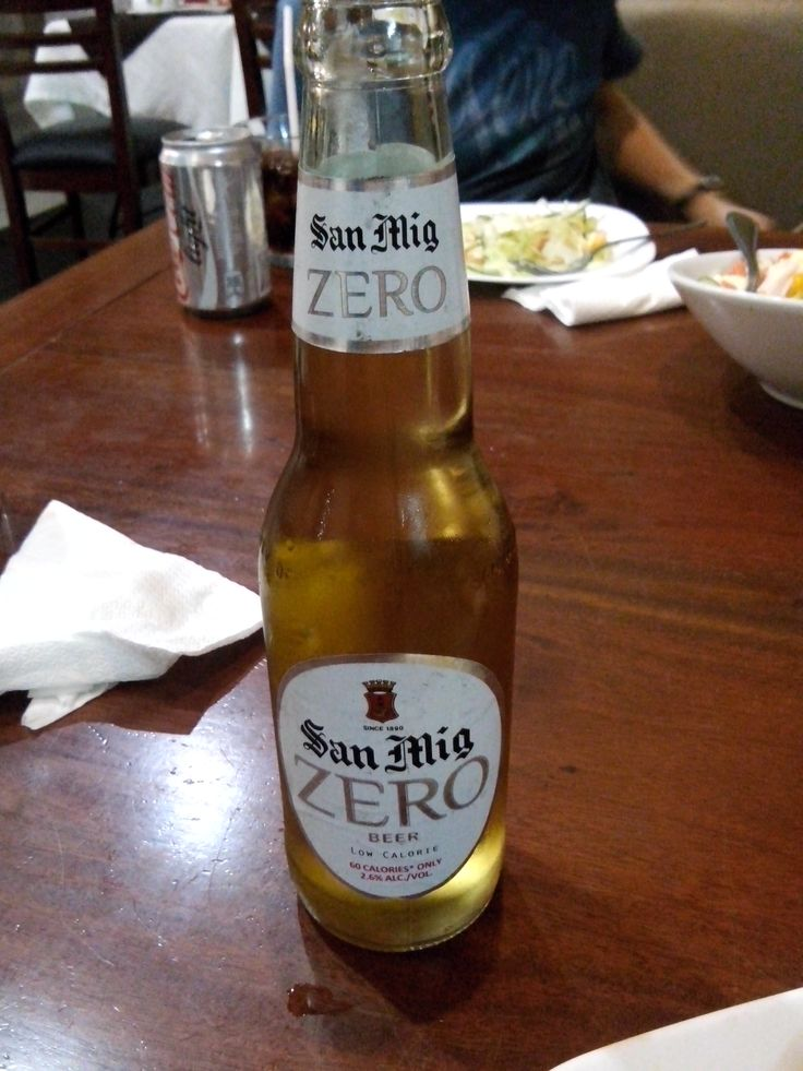 San Miguel Beer Zero 60 calories and 2.5 alcohol San