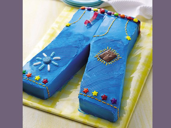 Groovy Jeans Cake Make a fun blue jeans cake for your favorite pop star diva!