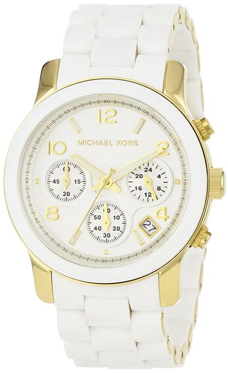 Michael Kors MK5145 Women's Two Tone Stainless Steel Quartz Chronograph White Dial Watch @}-,-;—