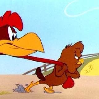 Foghorn Leghorn...and the chicken hawk...classic.