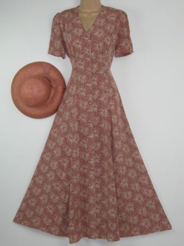 online buy clothes Laura ashley vintage english cottage garden long length summer day dress