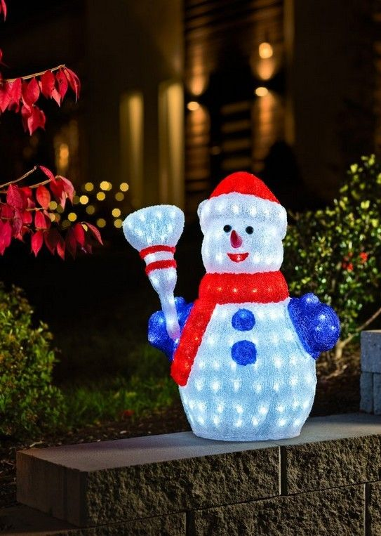 Snowman Outdoor Christmas Decorations Rainforest Islands Ferry