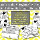 """A packet of activities to accompany Roald Dahl's famous short story, """"Lamb to the Slaughter"""". Included in this free resource: * Comprehension quest..."""