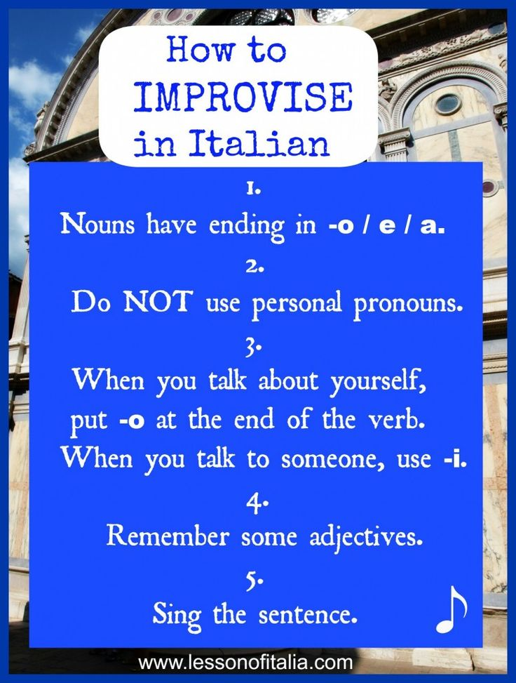 Follow 5 simple rules and improve your #Italian speech