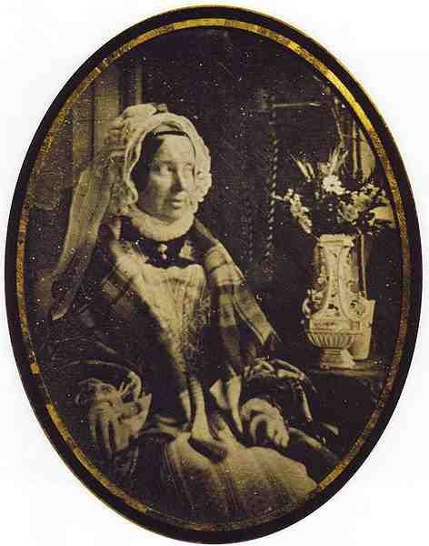 Marie-Louise, Empress of France 1810-1814. Second Wife of Napoleon Ist and Mother to his son, Napoleon II. This is an early photograph and caught her in the year of her death, 1847.