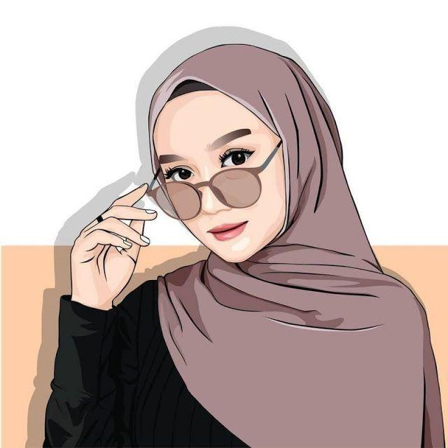 Vector Art Vector Portrait Vector Illustration Cartoon Logo Cartoon Portrait Digital Art Ilustrasi Karakter Ilustrasi Orang Gambar Kartun Cool wallpapers of hijab people