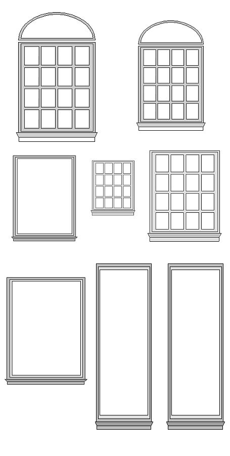 1000 images about dolls house printables doors windows for Window design clipart