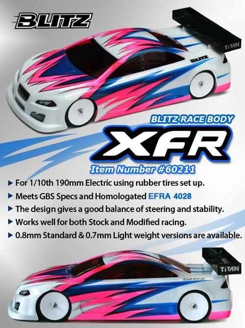 BLITZ Racing XFR 1/10 190mm karosszéria