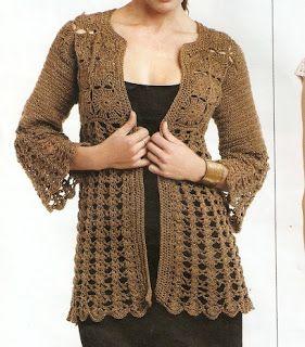 Scorzo Tricroche: Receita de casaco em crochê...