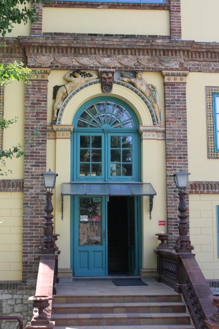 "Pécs, door in ""Zsolnay negyed"", Hungary"