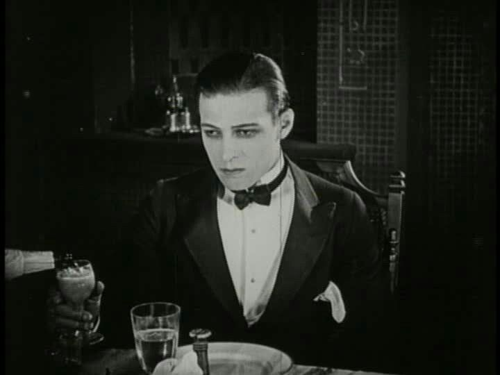 Rudolph Valentino on the set of The Delicious Little Devil, 1919.
