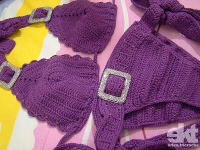 Biquine Purple Glitter & Buckle