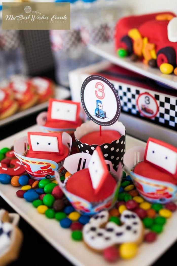 CUTE IDEA for Mater CUPCAKES! via Kara's Party Ideas | KarasPartyIdeas.com #Disney #RaceCar #Cars #Cupcakes #Party #Idea #MyBestWishes #Mater #LightningMcqueen