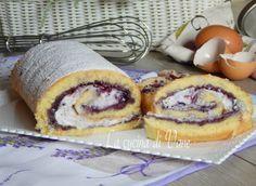 Rotolo morbido con marmellata e ricotta, dolce goloso senza troppi grassi perfetto a merenda e a colazione, con cottura veloce e una crema senza cottura