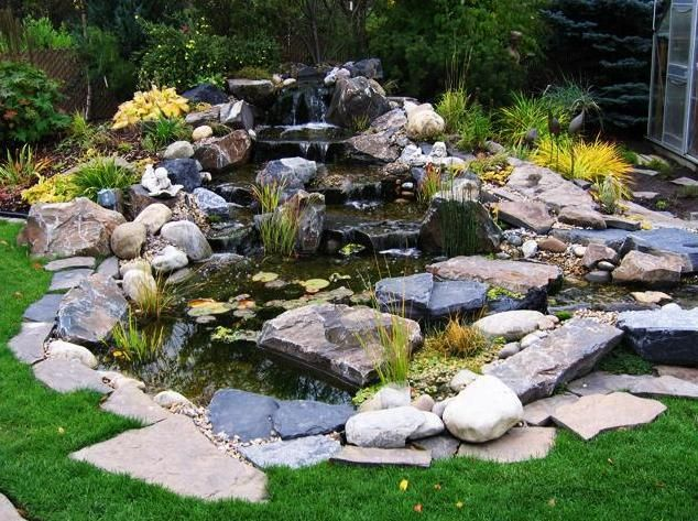 17 best images about landscape ponds waterfalls stream for Water garden ideas