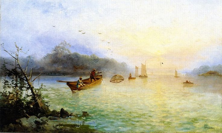 Prawn Fishing - 1860-1861 George Henry Andrews #English, 1816-1898